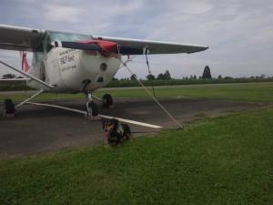 飛行機と音吉
